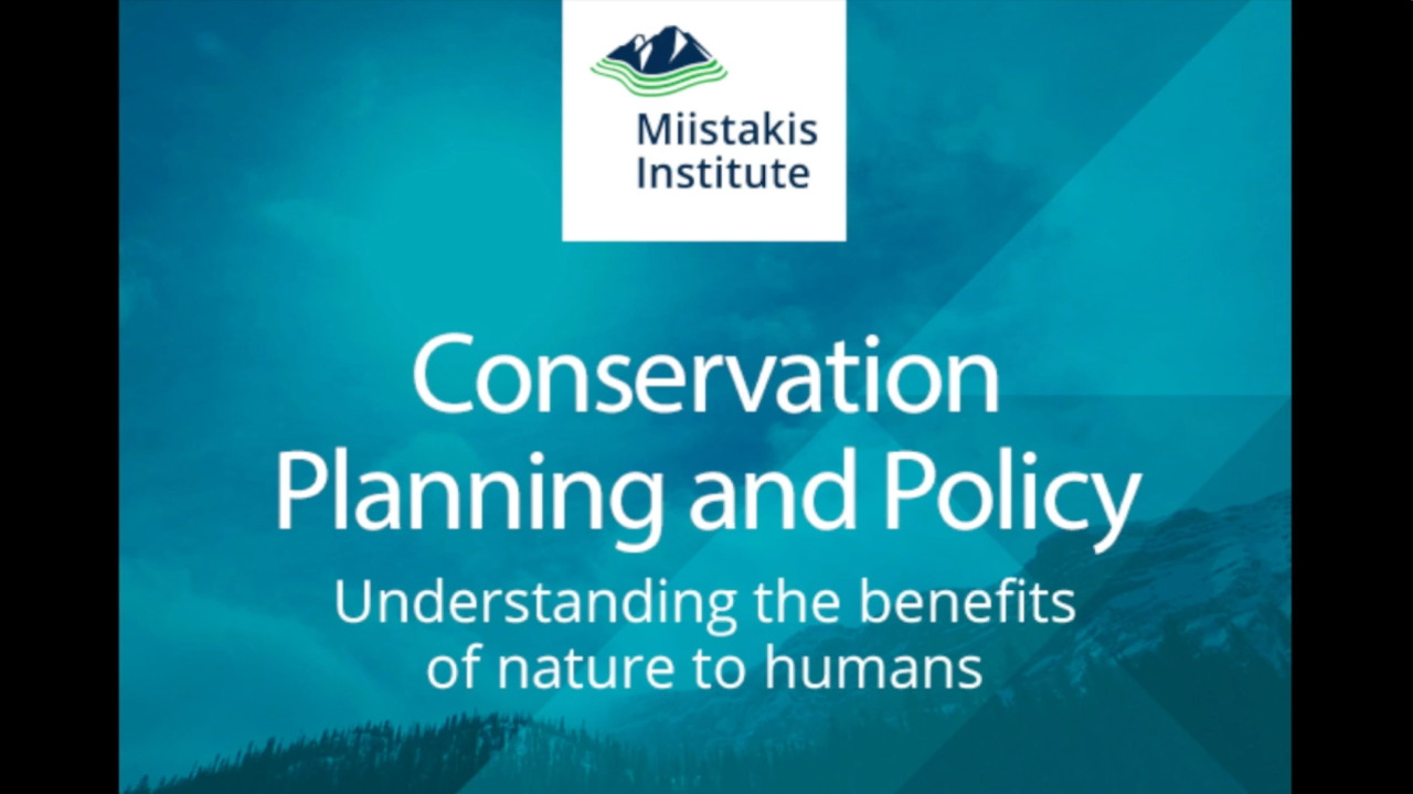 Conservation Planning and Policy